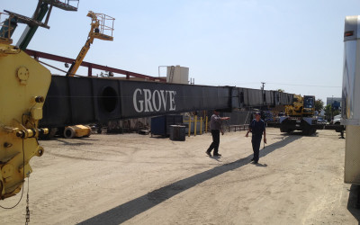 GROVE TMS870 BEING INSPECTED IN CALIFORNIA